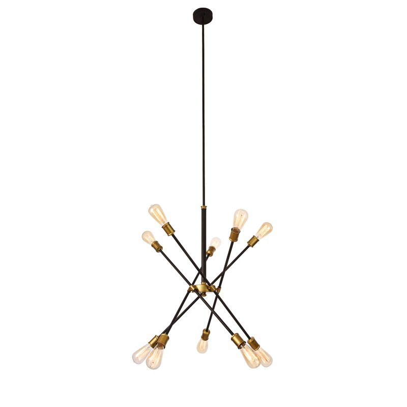 Featured Photo of Everett 10 Light Sputnik Chandeliers