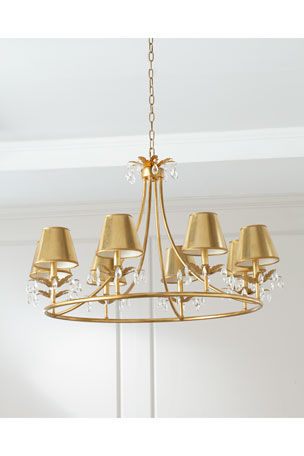 Most Up To Date Gaines 5 Light Shaded Chandeliers Intended For Chandelier & Pendant Lighting At Neiman Marcus (View 14 of 25)