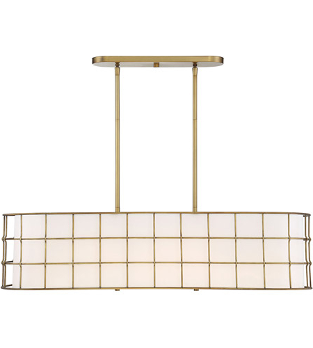 Most Up To Date Hayden 5 Light 42 Inch Warm Brass Linear Chandelier Ceiling Light Within Hayden 5 Light Shaded Chandeliers (View 19 of 25)