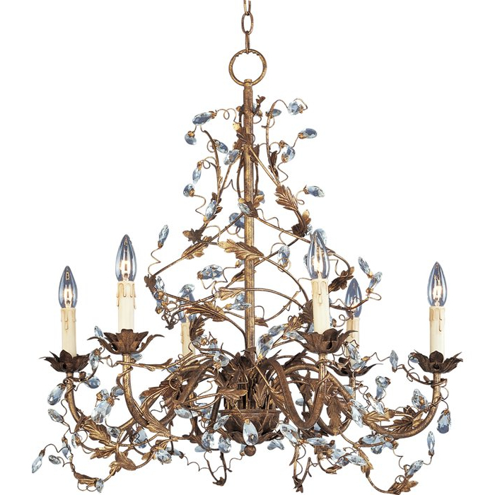 Most Up To Date Kaiya 6 Light Candle Style Chandelier Regarding Hesse 5 Light Candle Style Chandeliers (View 22 of 25)