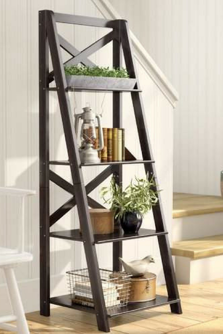 Most Up To Date Laurel Foundry Modern Farmhouse Kaitlyn Ladder Bookcase #ad Regarding Kaitlyn Ladder Bookcases (View 3 of 20)