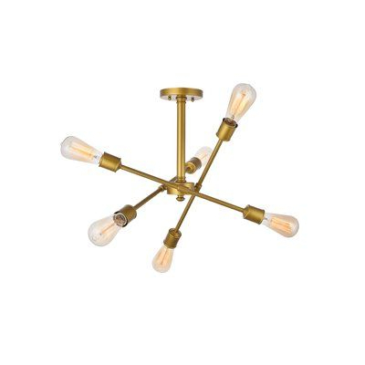 Most Up To Date Pinterest – Пинтерест In Johanne 6 Light Sputnik Chandeliers (View 20 of 25)
