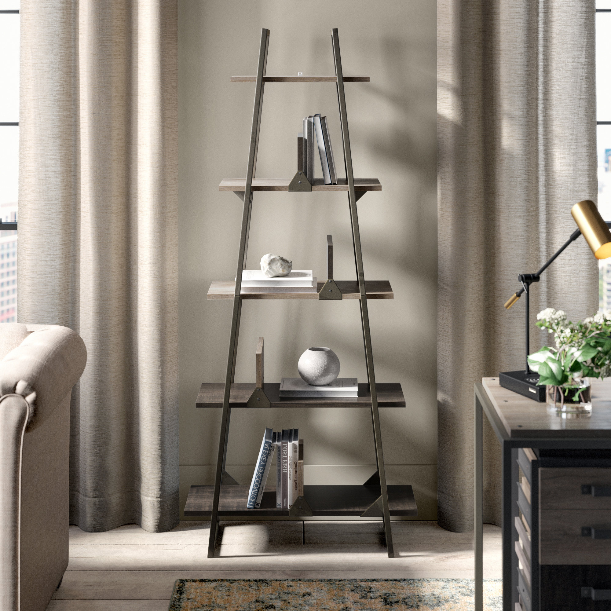 Most Up To Date Saskia Etagere Bookcases With Rosemarie Etagere Bookcase (View 9 of 20)