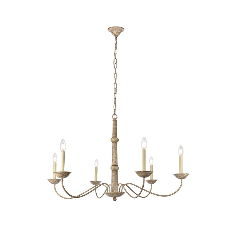 Most Up To Date Seneca 6 Light Candle Style Chandelier With Perseus 6 Light Candle Style Chandeliers (View 18 of 25)