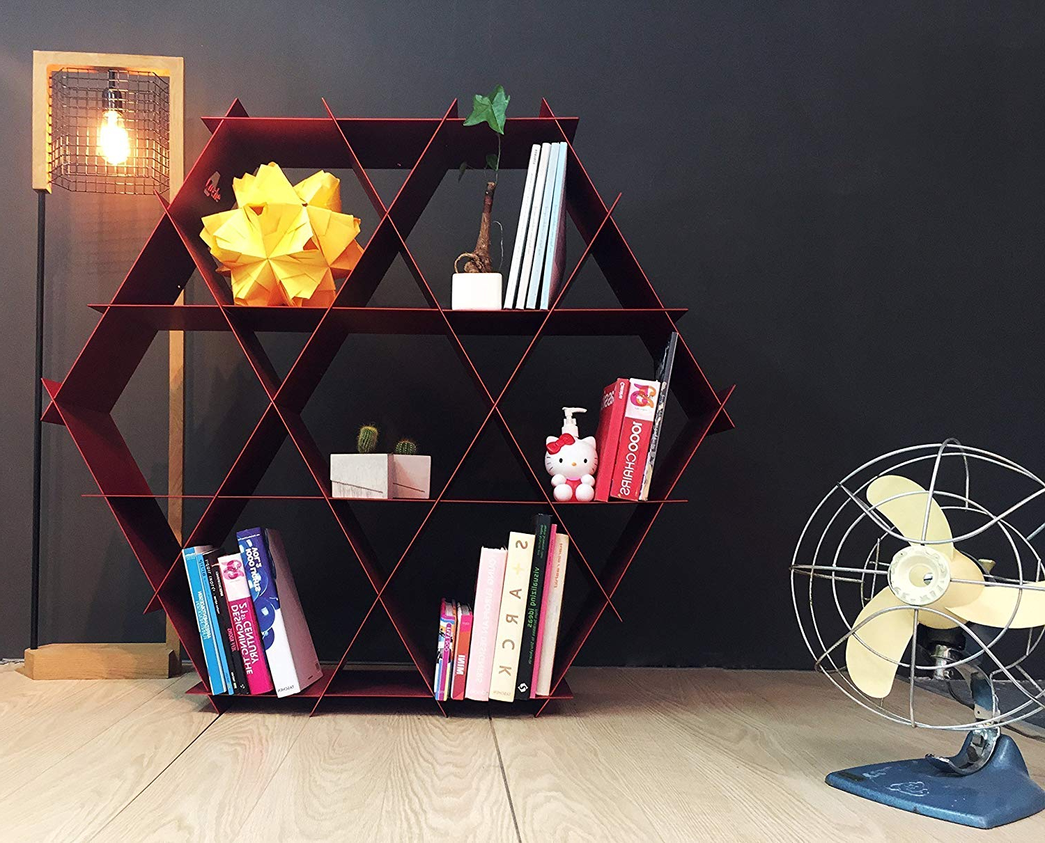 Most Up To Date Skaggs Geometric Bookcases In Amazon: Ruche Shelving Unit  Geometric Bookcase And (View 9 of 20)