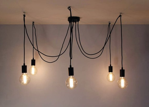 Multi Pendant Light Octopus Chandelier 3 5 Hanging Lights For Fashionable Buster 5 Light Drum Chandeliers (View 17 of 25)
