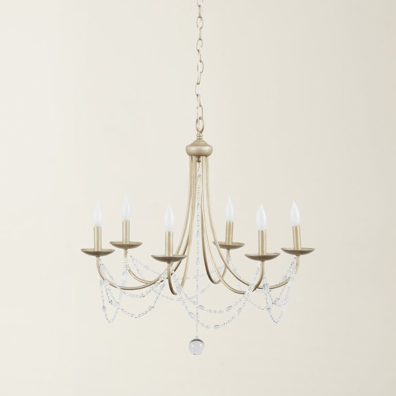 Nantucket 6 Light Candle Style Chandelier With Regard To Well Known Hamza 6 Light Candle Style Chandeliers (View 20 of 25)