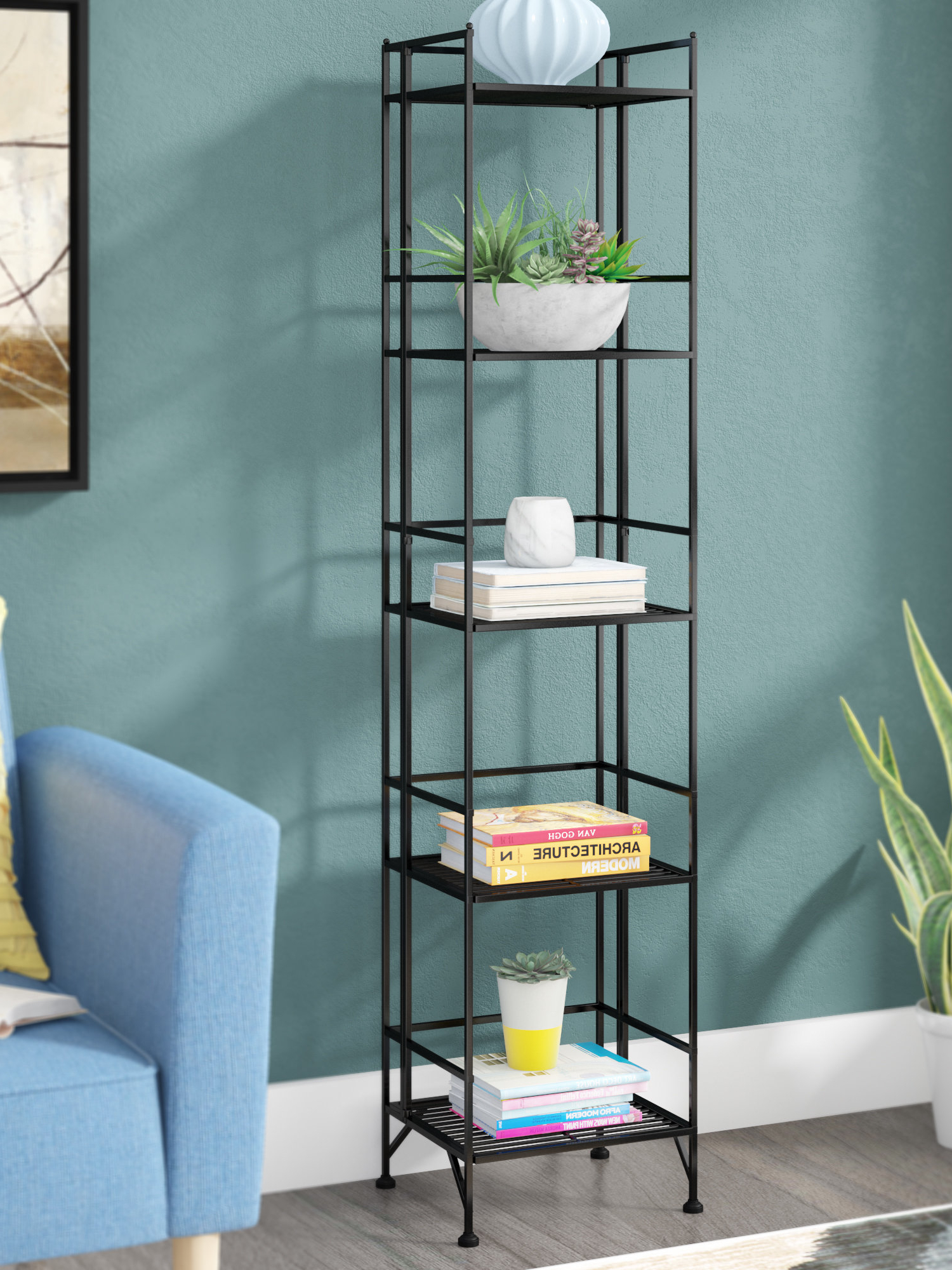 Narrow Profile Standard Cube Bookcases Regarding 2019 Cube Narrow (under 20 In (View 14 of 20)
