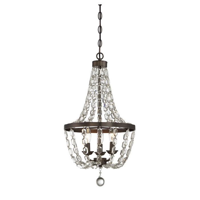 Nehemiah 3 Light Empire Chandeliers Throughout Well Liked Katy 3 Light Empire Chandelier (View 21 of 25)