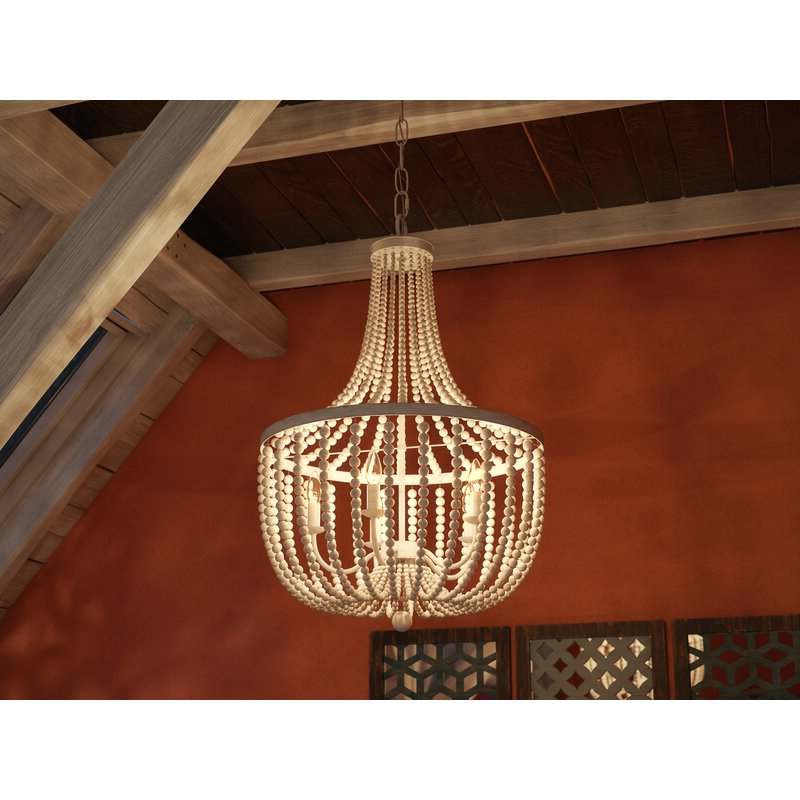 Nehemiah 3 Light Empire Chandeliers With Regard To Famous Tilden Wood Bead 5 Light Empire Chandelier (Gallery 15 of 25)