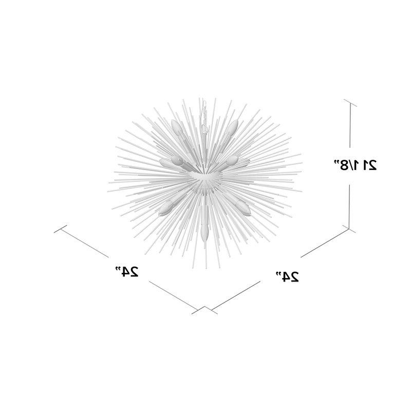 Nelly 12 Light Sputnik Chandelier Pertaining To Trendy Nelly 12 Light Sputnik Chandeliers (View 8 of 25)