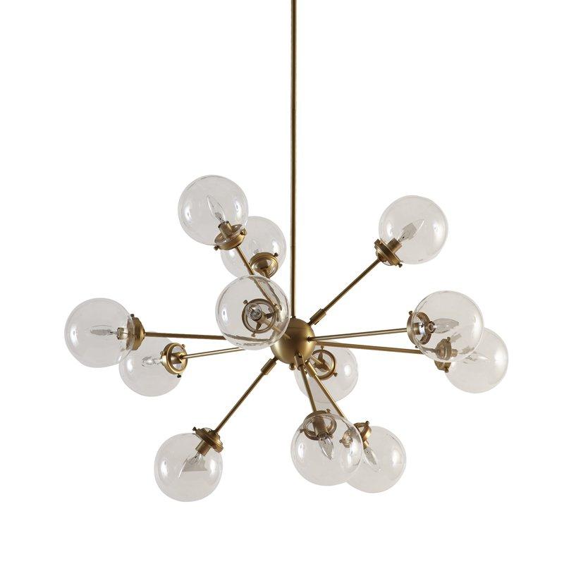 Nelly 12 Light Sputnik Chandeliers Intended For Well Known Asher 12 Light Sputnik Chandelier (View 17 of 25)