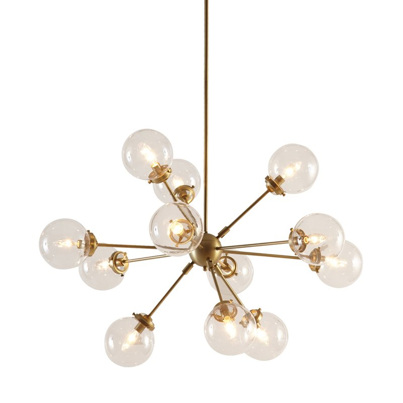 Nelly 12 Light Sputnik Chandeliers Pertaining To Trendy Asher 12 Light Sputnik Chandelier (View 11 of 25)