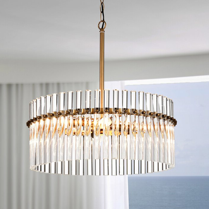 Neva 4 Light Crystal Chandelier Pertaining To Trendy Benedetto 5 Light Crystal Chandeliers (View 21 of 25)