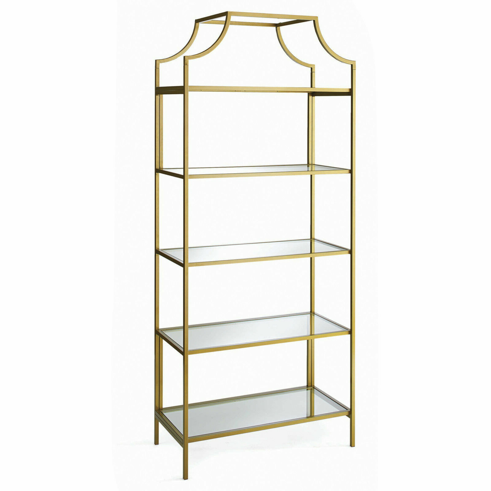"""New Better Homes & Gardens 71"""" Nola 5 Tier Etagere Bookcase Gold Finish 5  Shelf Intended For Most Recently Released Beckwith Etagere Bookcases (View 16 of 20)"""