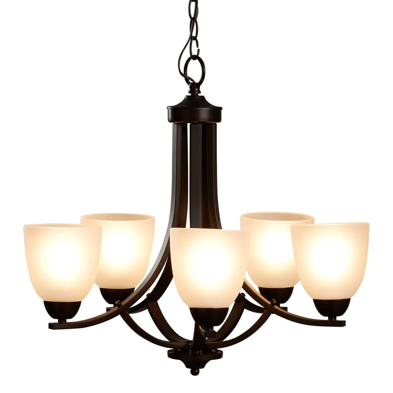 Newent 5 Light Shaded Chandeliers For Fashionable Hayden 5 Light Shaded Chandelier (View 6 of 25)