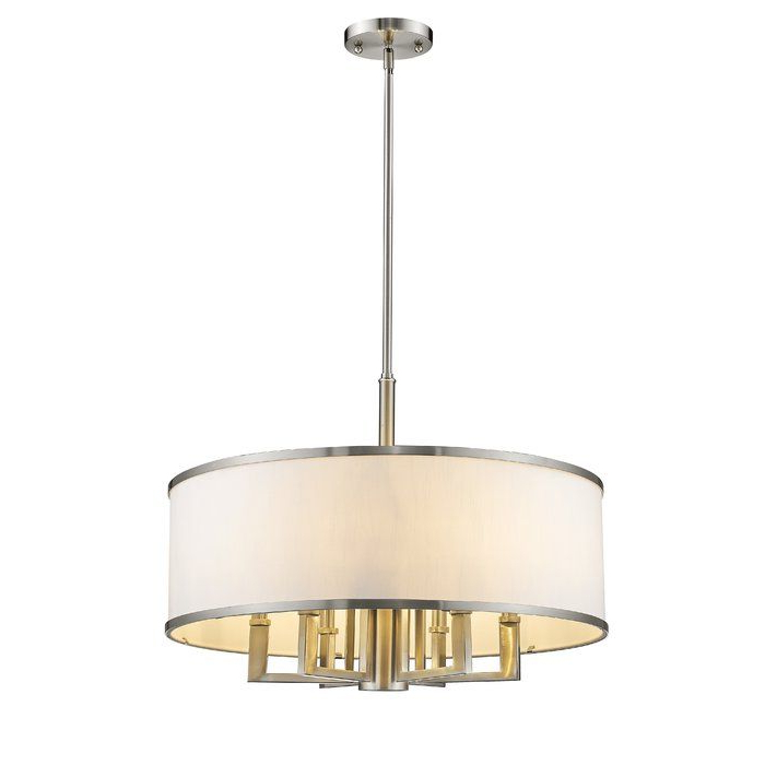 Newent 5 Light Shaded Chandeliers Regarding Trendy Cana 7 Light Drum Chandelier In  (View 15 of 25)