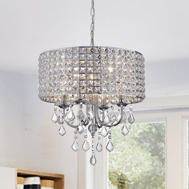 Newest Albano 4 Light Crystal Chandelier In 2019 (Gallery 13 of 25)