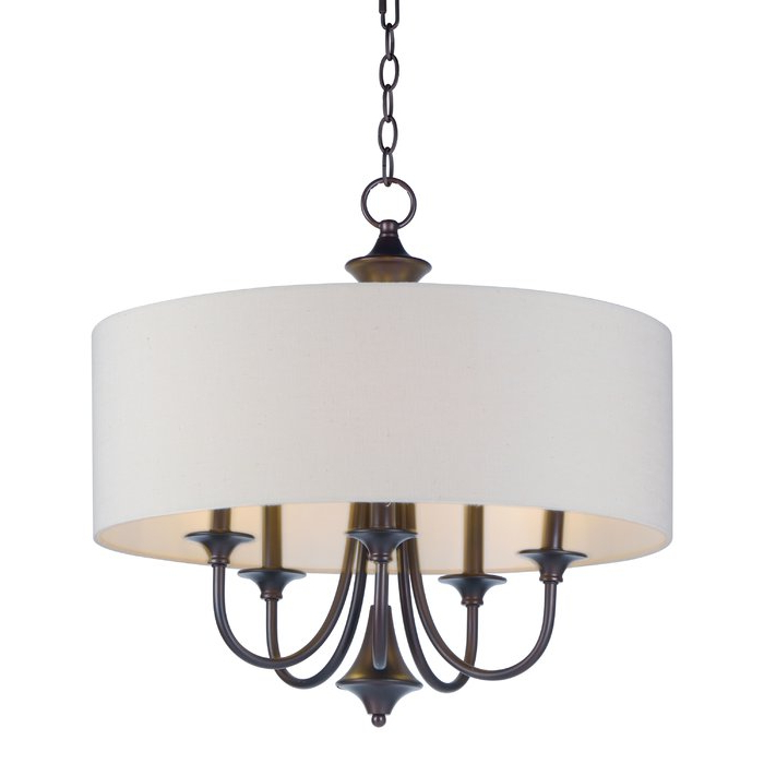 Newest Buster 5 Light Drum Chandeliers Regarding Wadlington 5 Light Drum Chandelier (View 7 of 25)