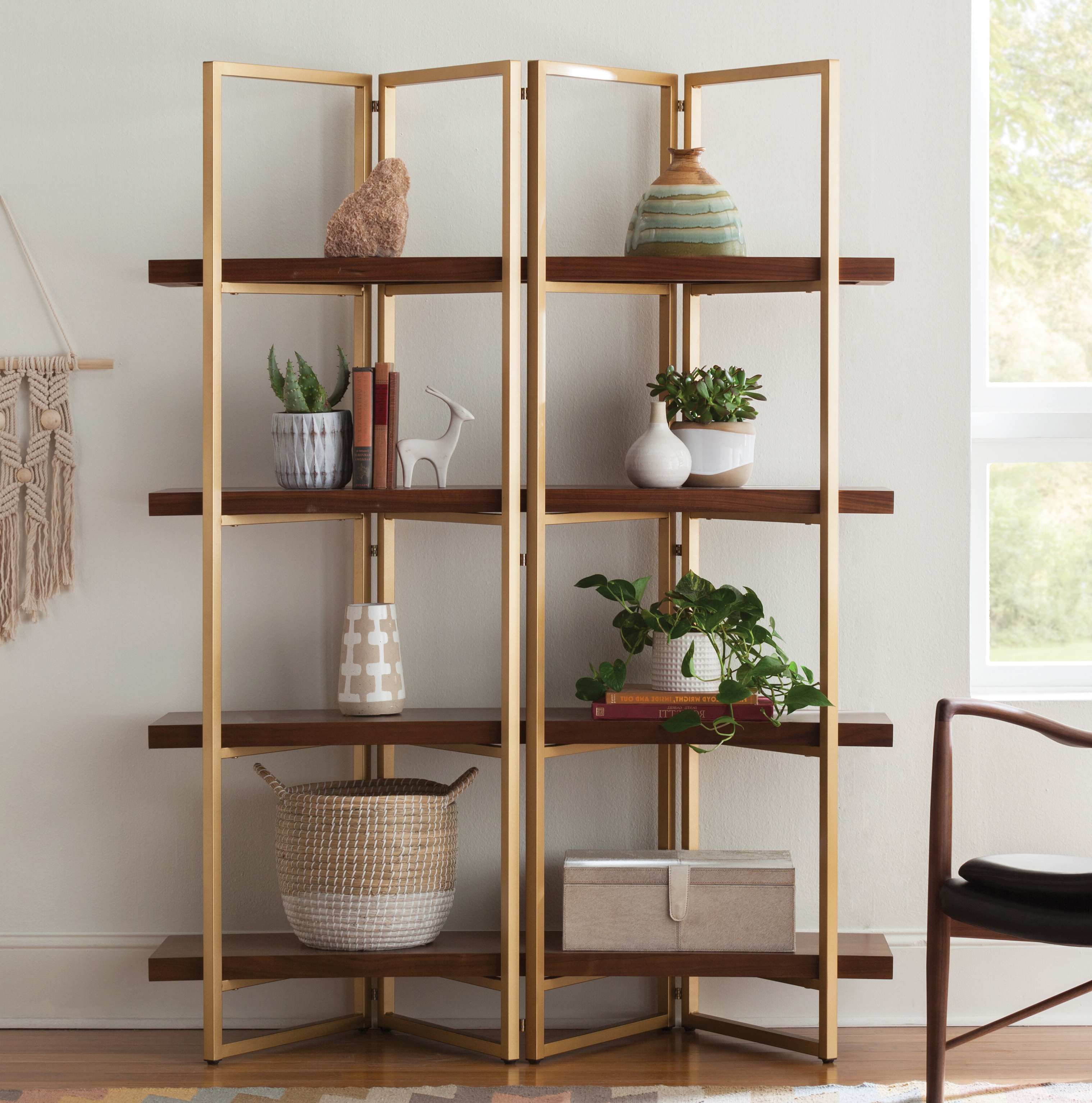 Newest Crowley Standard Bookcases Intended For Rhem Etagere Bookcase (View 16 of 20)