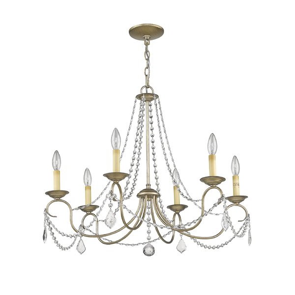 Newest Devana 6 Light Candle Style Chandelier For Diaz 6 Light Candle Style Chandeliers (Gallery 11 of 25)