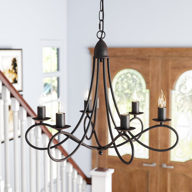 Newest Diaz 6 Light Candle Style Chandelier With Diaz 6 Light Candle Style Chandeliers (Gallery 1 of 25)
