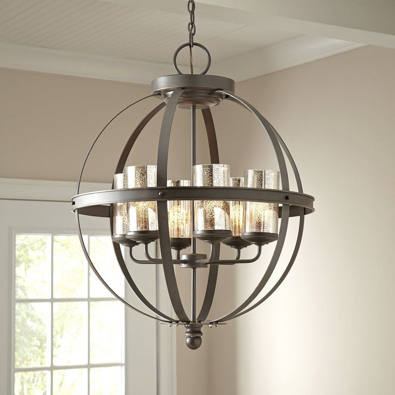 Newest Donna 6 Light Globe Chandelier (Gallery 7 of 25)