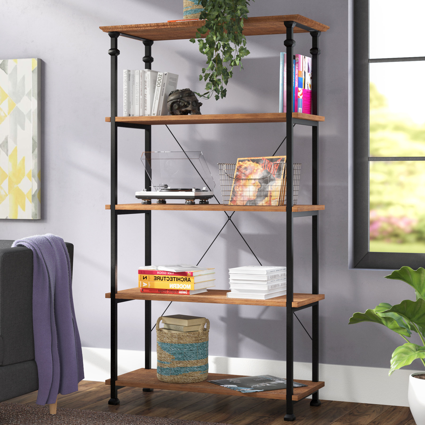 Newest Epineux Etagere Bookcases With Regard To Zona Etagere Bookcase (View 16 of 20)