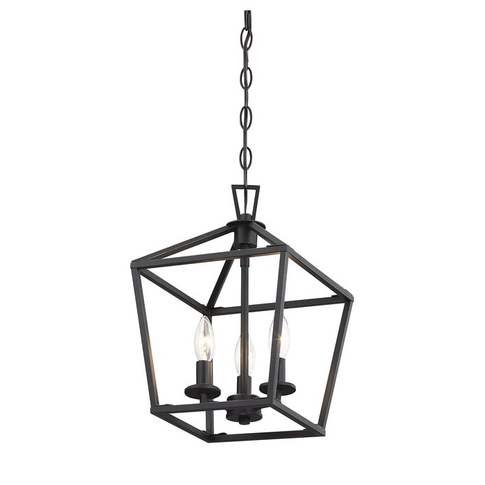 Newest Gabriella 3 Light Lantern Chandeliers Intended For Israel 3 Light Lantern Geometric Pendant (View 17 of 25)
