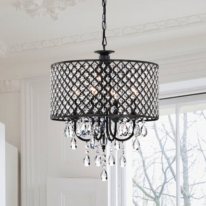 Newest Gisselle 4 Light Drum Chandelier With Regard To Jill 4 Light Drum Chandeliers (View 4 of 25)