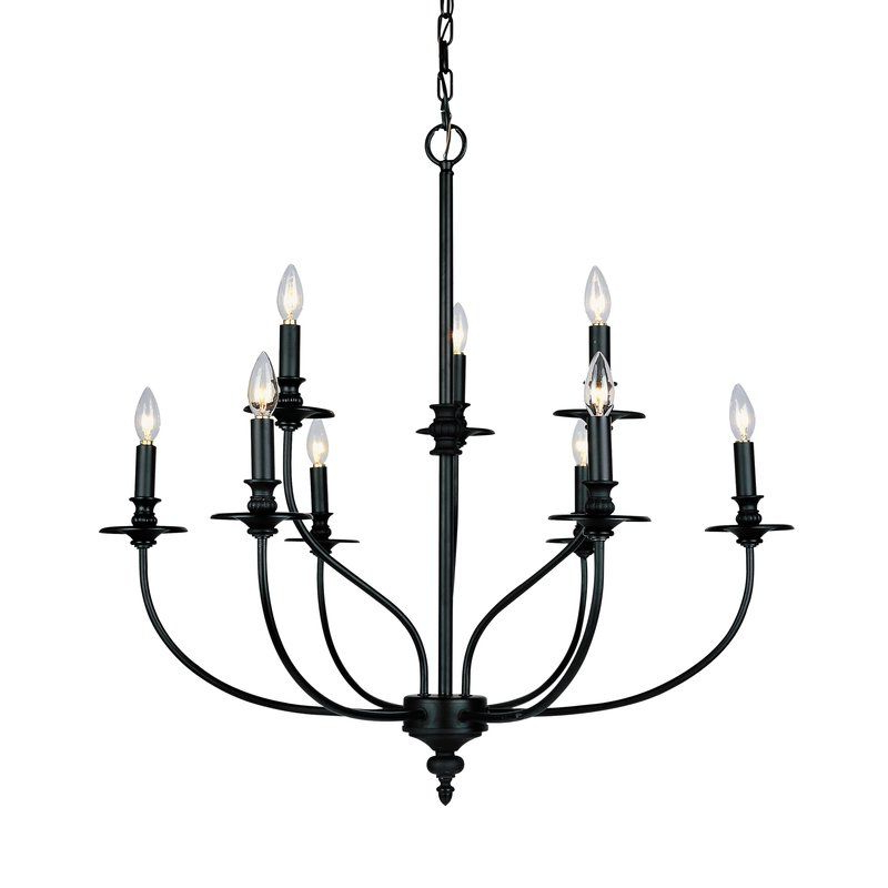 Newest Giverny 9 Light Candle Style Chandeliers With Giverny 9 Light Candle Style Chandelier In (View 3 of 25)