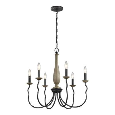 Newest Hamza 6 Light Candle Style Chandeliers Throughout Candle Style – Chandeliers – Lighting – The Home Depot (View 21 of 25)
