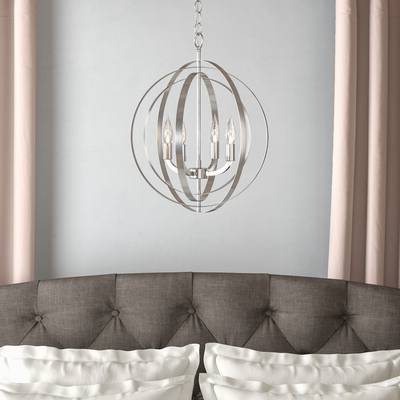 Newest Hendry 4 Light Globe Chandeliers Intended For Kimbrell 3 Light Vanity Light (Gallery 5 of 25)