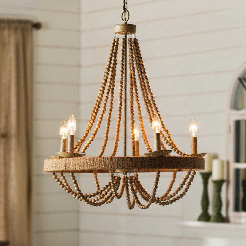 Newest Ladonna 5 Light Novelty Chandeliers Intended For Duron 5 Light Empire Chandelier (View 7 of 25)