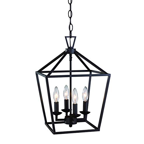 Newest Lantern Pendant Light: Amazon With Taya 4 Light Lantern Square Pendants (Gallery 13 of 25)