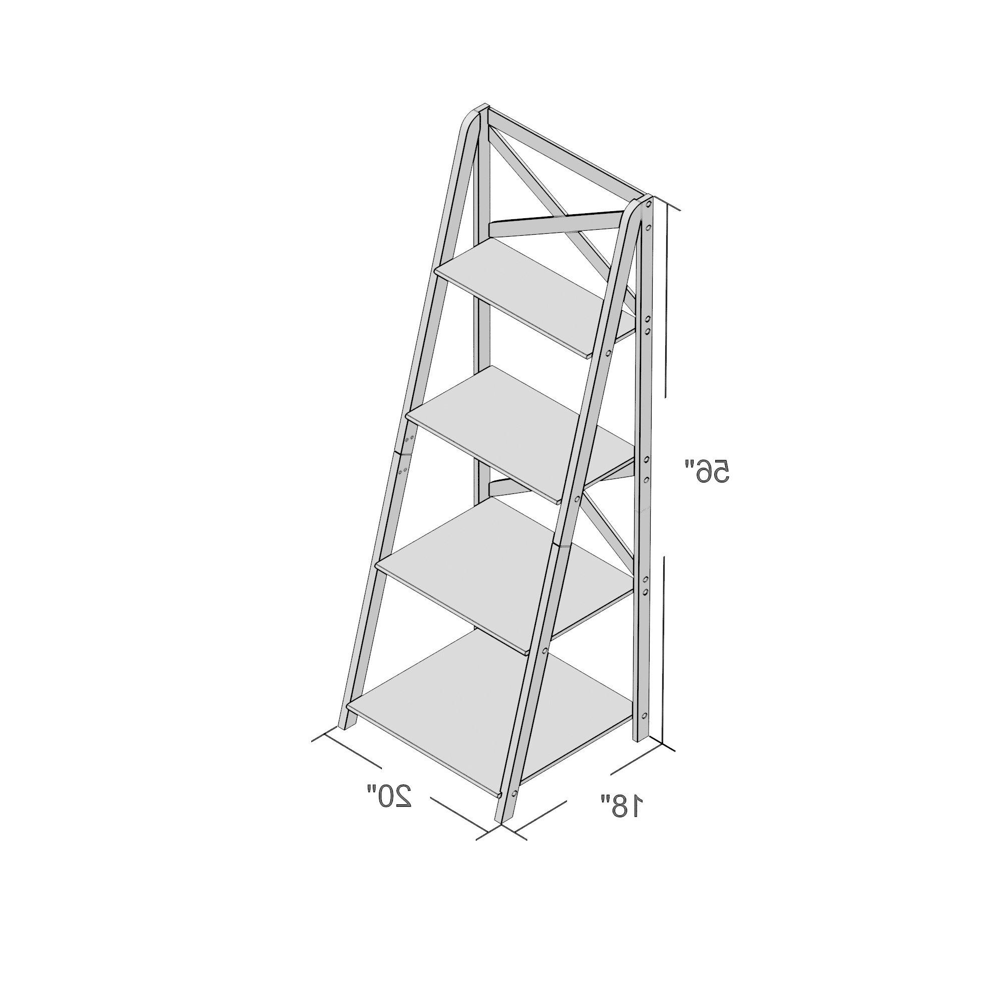 Newest Laurel Foundry Modern Farmhouse Kaitlyn Ladder Bookcase Throughout Kaitlyn Ladder Bookcases (Gallery 9 of 20)