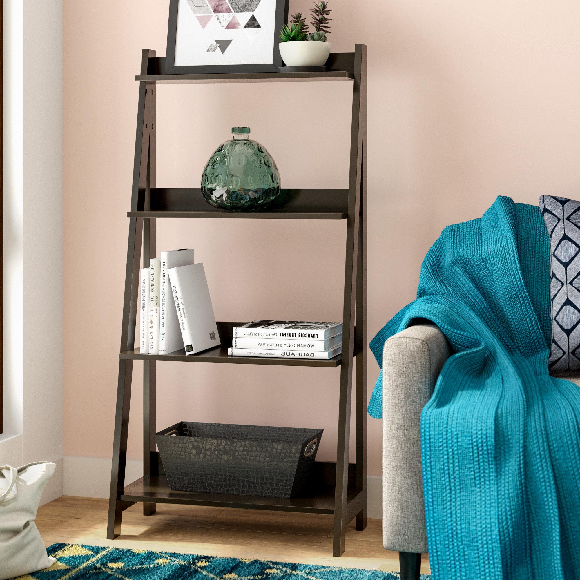 Newest Riddleville Ladder Bookcase Intended For Blevens A Frame Ladder Bookcases (Gallery 11 of 20)