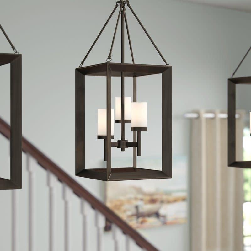 Newest Three Posts Thorne 3 Light Foyer Pendant Regarding Thorne 4 Light Lantern Rectangle Pendants (Gallery 16 of 25)