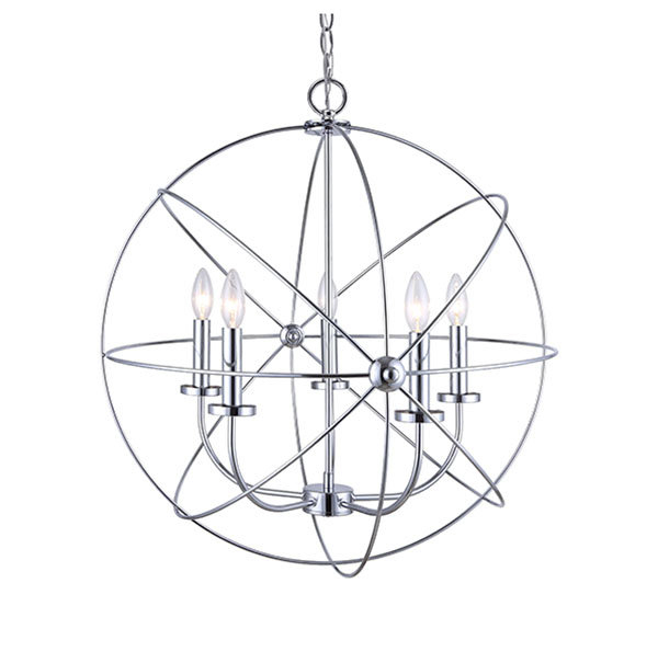 Newest Waldron 5 Light Globe Chandelier With Waldron 5 Light Globe Chandeliers (View 14 of 25)