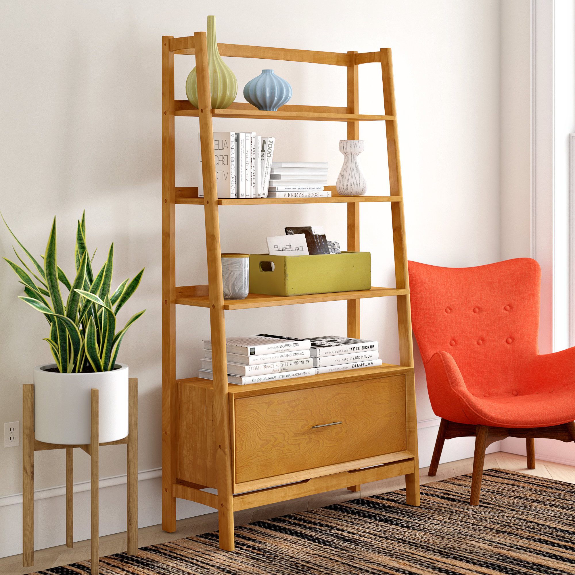 Newest Wood Etagere You'll Love In  (View 12 of 20)