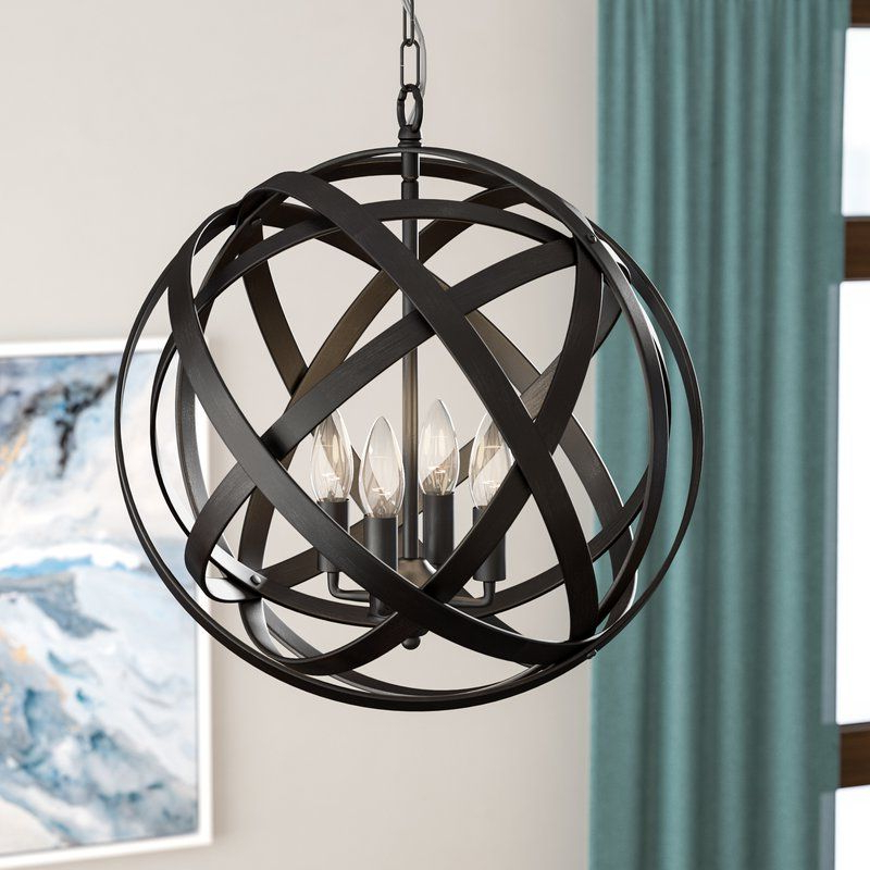 Nilda 4 Light Globe Chandelier In (View 8 of 25)