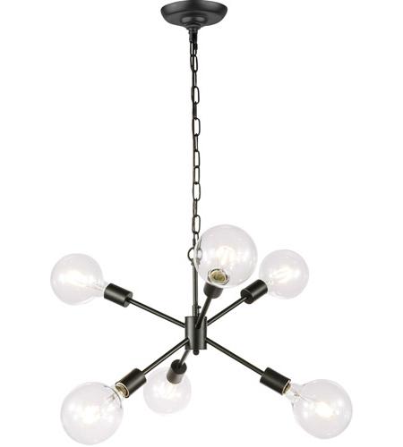 Nolan 1 Light Lantern Chandeliers Regarding Well Liked Living District Ld5033D16Bk Nolan 6 Light 16 Inch Black Pendant Ceiling Light (View 25 of 25)