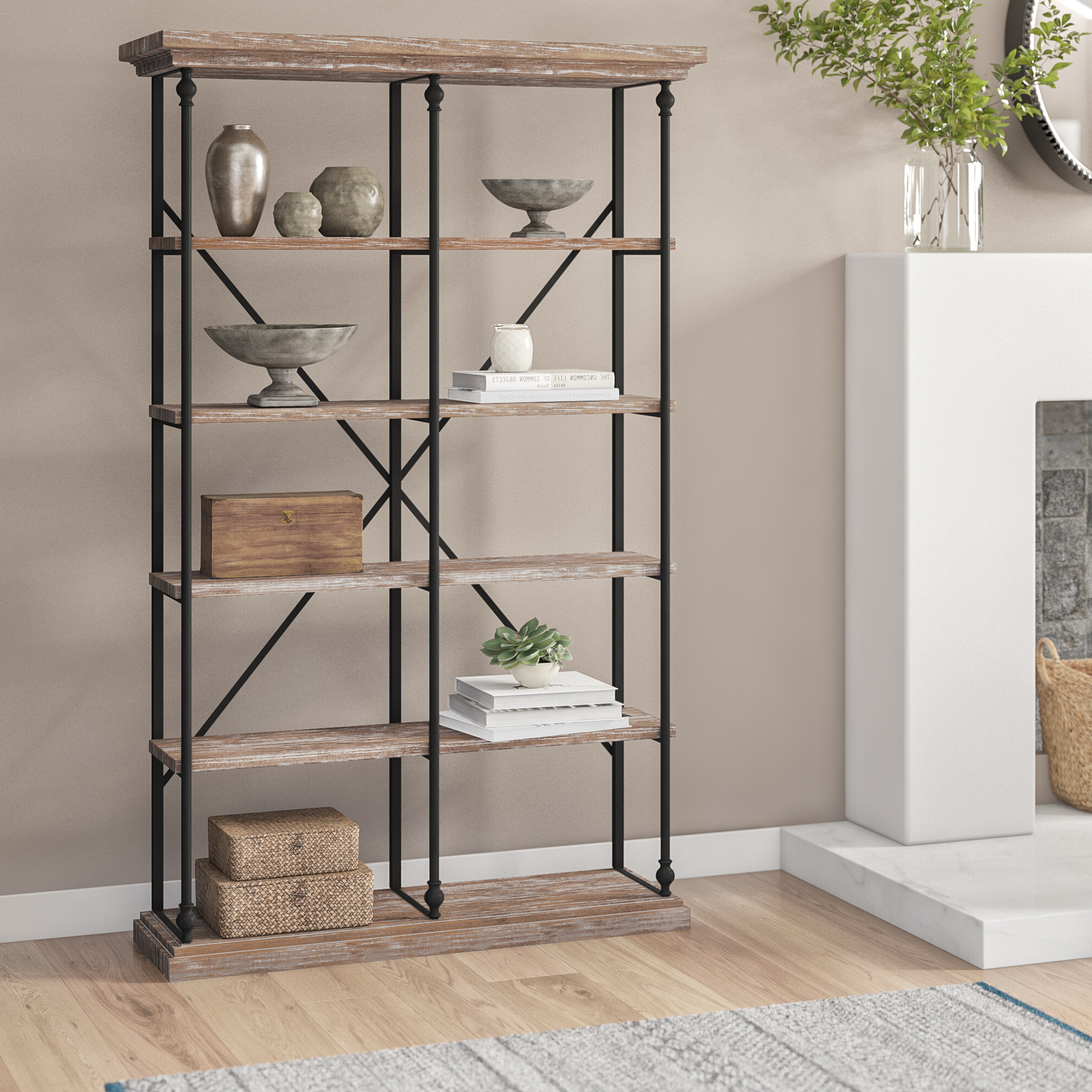 Oakside Etagere Bookcases With Widely Used Celestia Etagere Bookcase (View 17 of 20)
