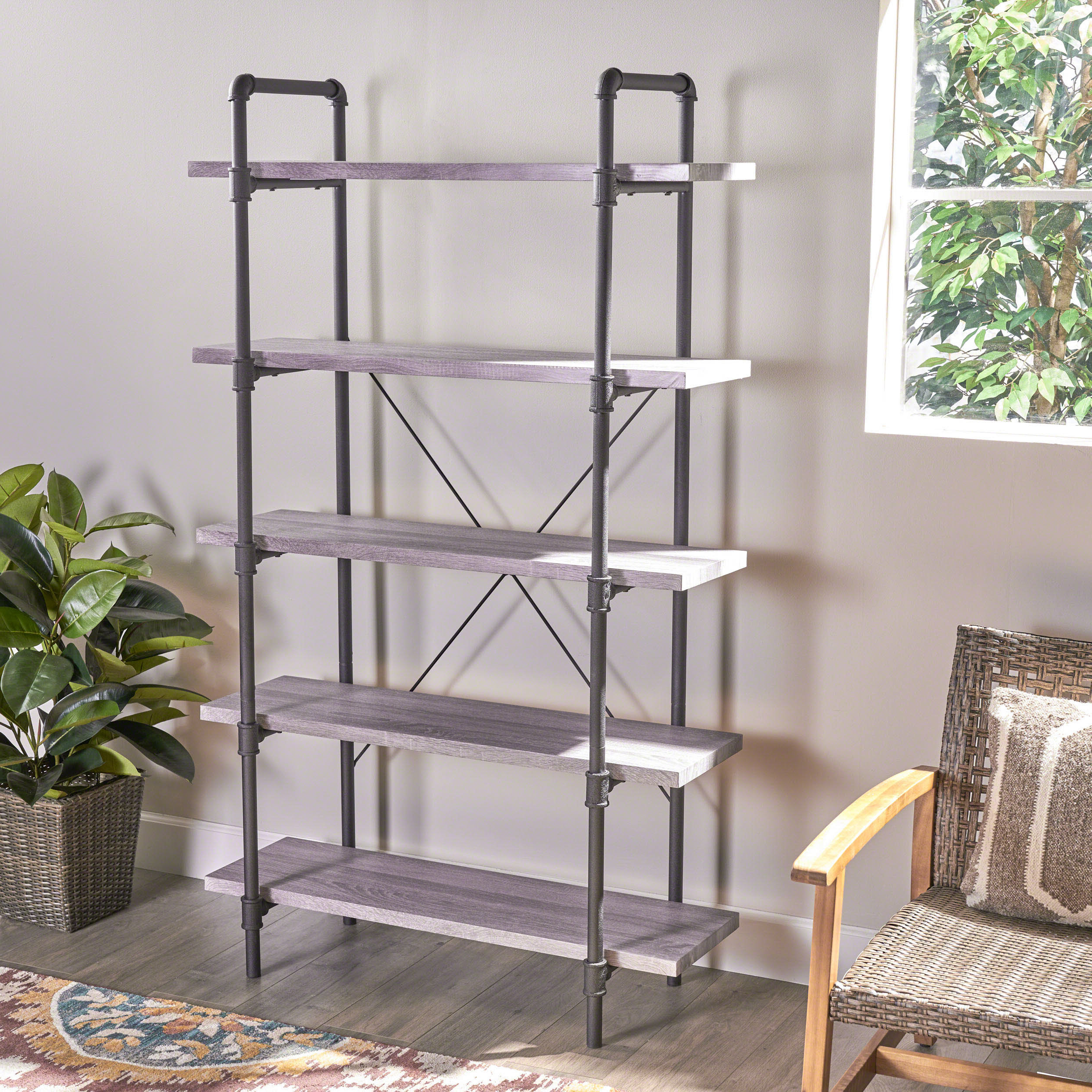 Oakside Etagere Bookcases Within Trendy Mullenax Etagere Bookcase (View 7 of 20)