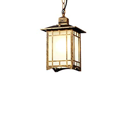 Odie 4 Light Lantern Square Pendants With Well Liked Amazon: Exterior Suspension Light Lantern Square (View 20 of 25)