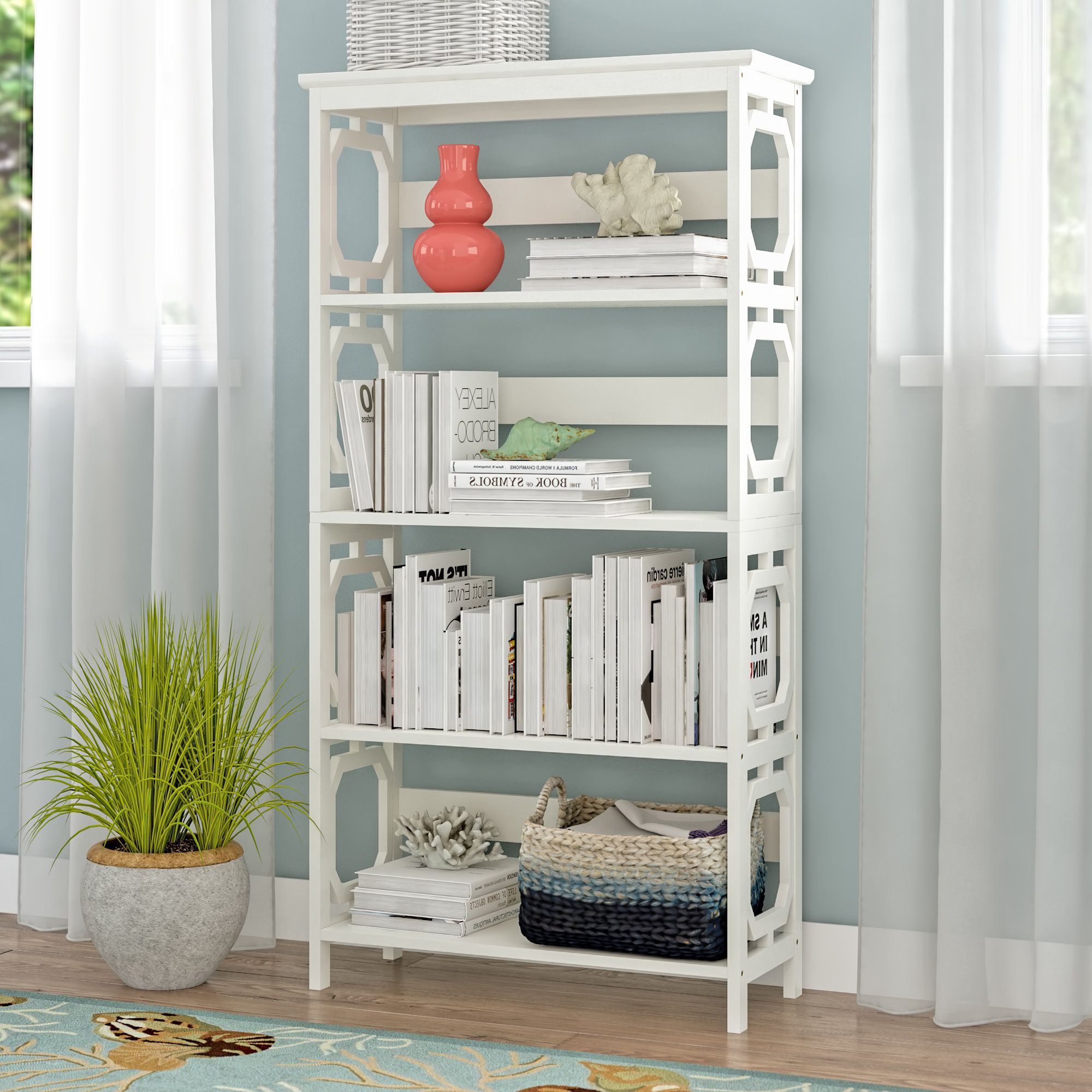 Oridatown Standard Bookcases For Most Recent Beachcrest Home Ardenvor Etagere Standard Bookcase & Reviews (View 12 of 20)