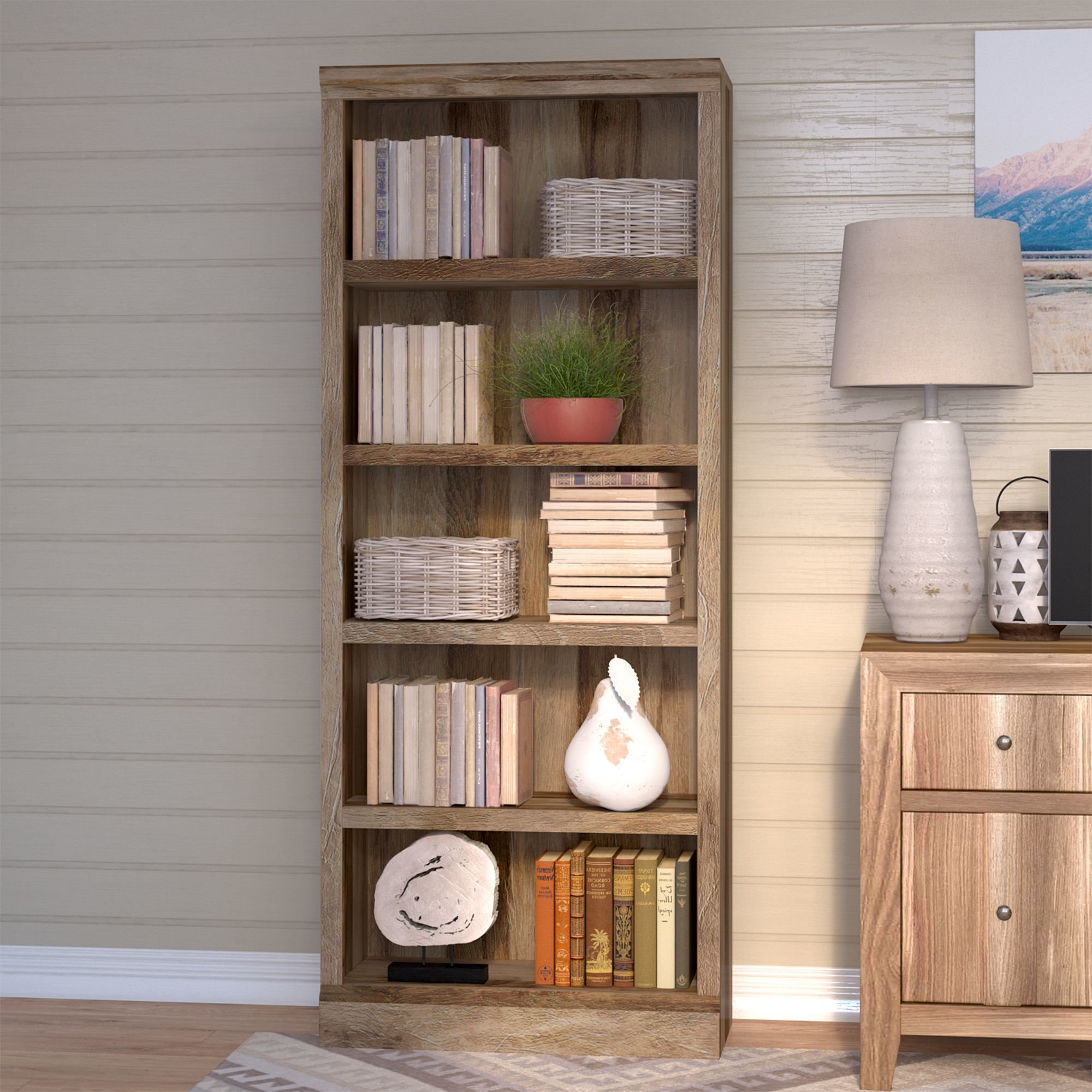 Oridatown Standard Bookcases Pertaining To Latest Kayli Standard Bookcase (View 9 of 20)