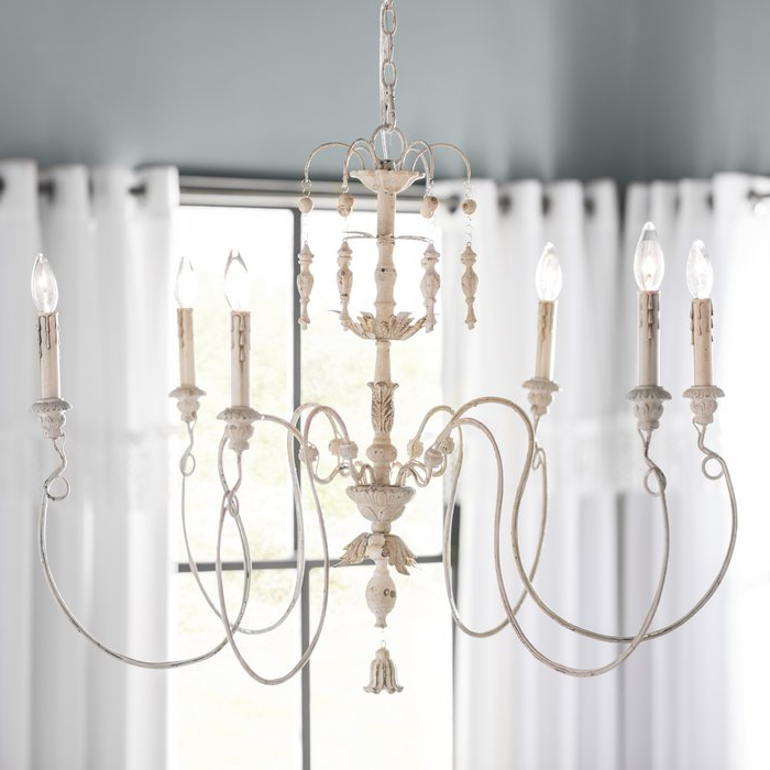 Paladino 6 Light Chandelier For Best And Newest Paladino 6 Light Chandeliers (Gallery 6 of 25)