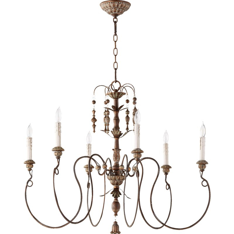 Paladino 6 Light Chandeliers Intended For Most Popular Paladino 6 Light Chandelier (Gallery 1 of 25)