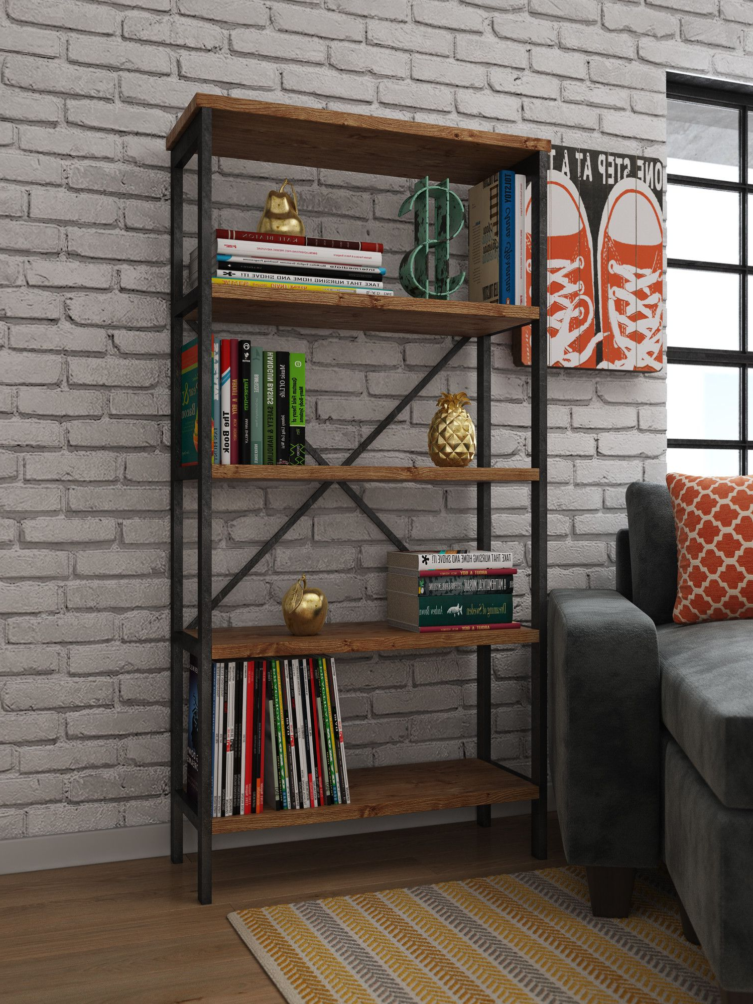 Parthenia Etagere Bookcases Inside 2020 Parthenia Etagere Bookcase (Gallery 6 of 20)